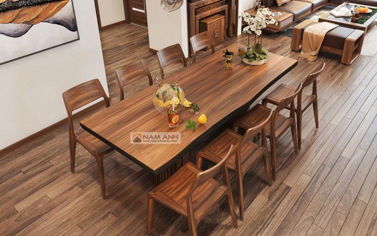 Hình ảnh minh họa thiết kế nội thất phòng khách liền bếp