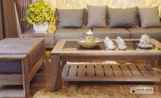 Báo giá các mẫu bộ bàn ghế sofa phòng khách gỗ óc chó cao cấp – đẹp – rẻ