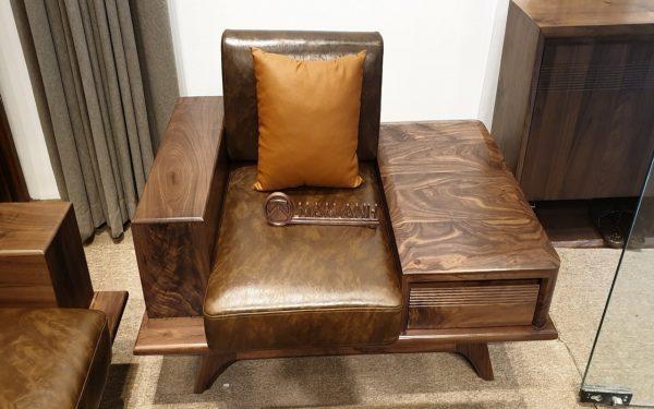 Sofa gỗ óc chó đẹp