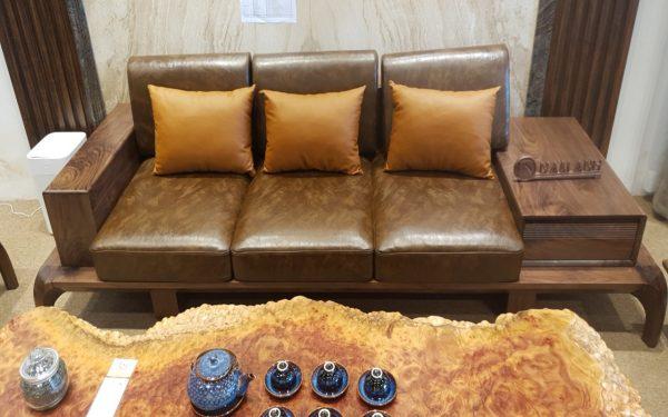 Bộ sofa gỗ óc chó giá rẻ