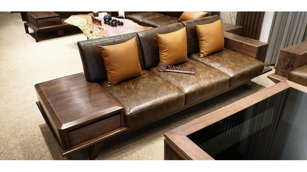 Nệm bàn ghế gỗ đẹp cho phòng khách rộng