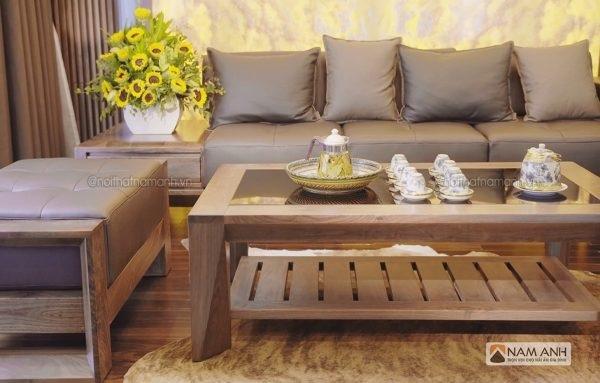 Chọn bàn ghế gỗ đẹp cho phòng khách rộng, hẹp
