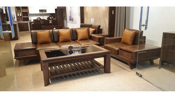 sofa gỗ óc chó giá bao nhiêu, có chất lượng không