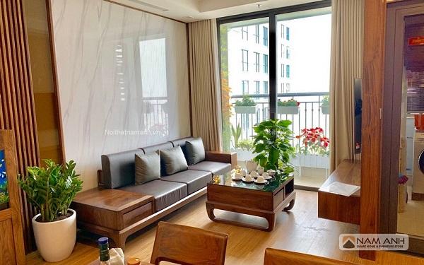 Tư vấn chọn sofa gỗ cho phòng khách hẹp